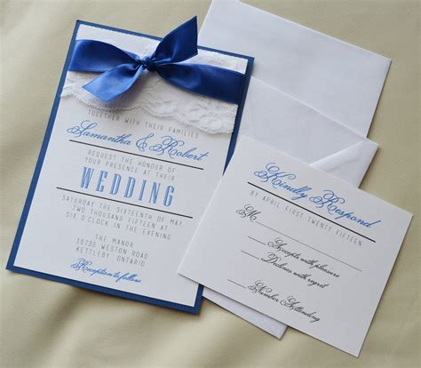 Wedding Invite Kits Paper by Royal Blue Wedding Invitation Kits Wedding Ideas