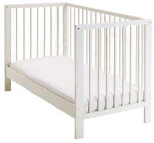 kinderbett zum beistellbett umbauen ikea babybett 70x140 cm in wei 223 mit matratze kaufen