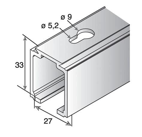 rail alu pour porte coulissante ferrure de porte coulissante bois rail alu pour saf 40 et