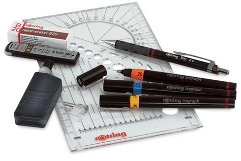Rotring Rapido Isograph Pen 0 1 Mm rotring isograph technical pen college sets blick