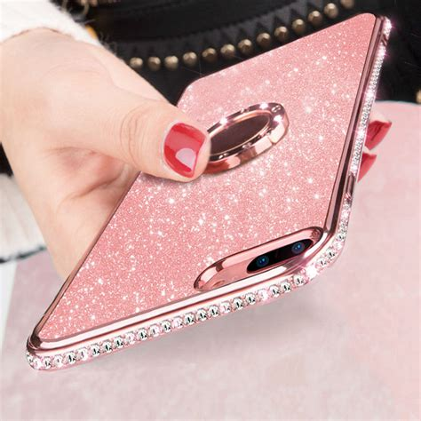for iphone xs max 8 7 6 luxury bling tpu ring holder stand protective cover ebay