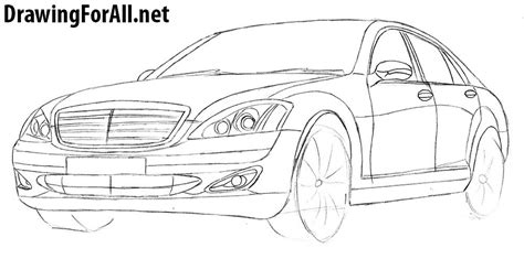 how to draw a jaguar car drawingforall net how to draw mercedes s class w221 drawingforall net