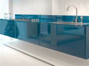 Glass Design For Kitchen Modern Kitchen Design With Led Lights And Cobalt Finish By