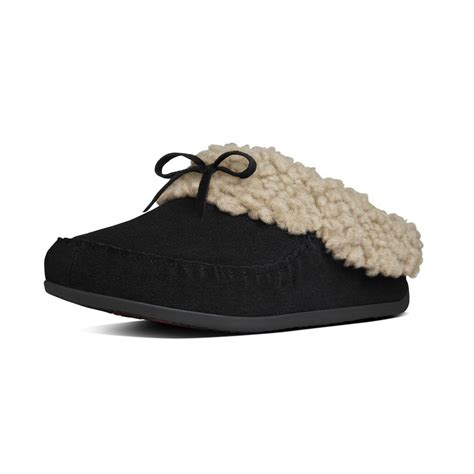 fitflops slippers fitflop slippers the cuddler snugmoc black suede mozimo