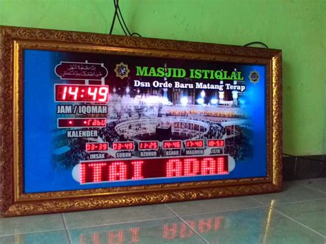 Jam Dinding Smart jual jam dinding digital led murah di lapak smart techno