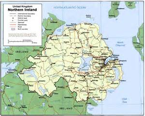 map of northern map of belfast ireland 2016