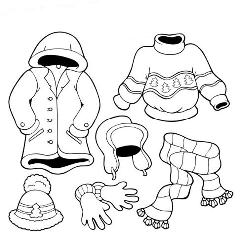 winter clothes coloring pages coloring pages