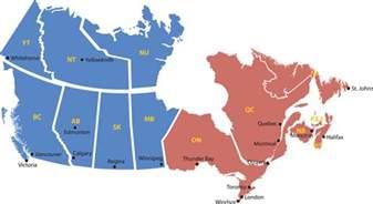 le mon r 234 ve mapa de canada regiones