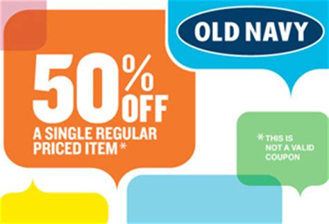 old navy 50 off any one item today only 10 5 13 w 50 off one item at old navy coupon connections