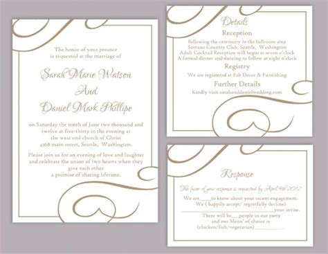 elegant wedding invitation printable elegant wedding invitation templates free download