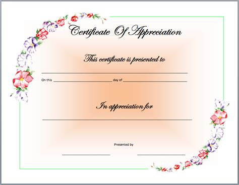 recognition certificates templates search results for certificate of recognition sle