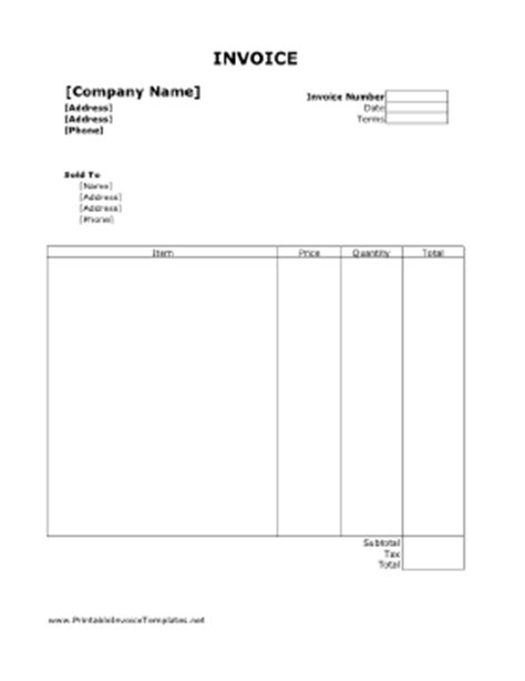 free editable invoice templates printable search results