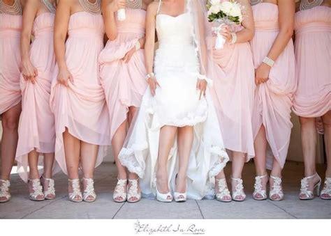 soft pink bridesmaids dresses wedding