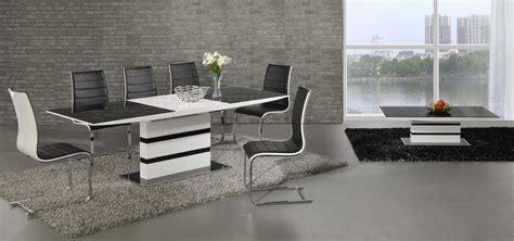 glass dining room furniture a perfect wow factor for ga k2 small extending black white 120 160 cm dining set 4