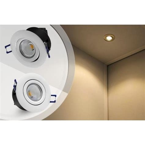 directional recessed led lighting directional 5w cob led recessed lighting fixture 2800k