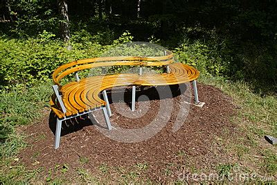 s shaped bench s shaped park bench stock image image 35652781