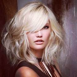 bobs hairstyle with side swoop 15 latest long bob with side swept bangs bob hairstyles