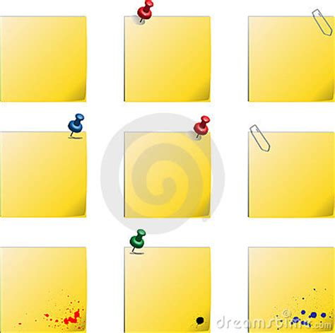 post it label templates post it templates royalty free stock photo image 18622085