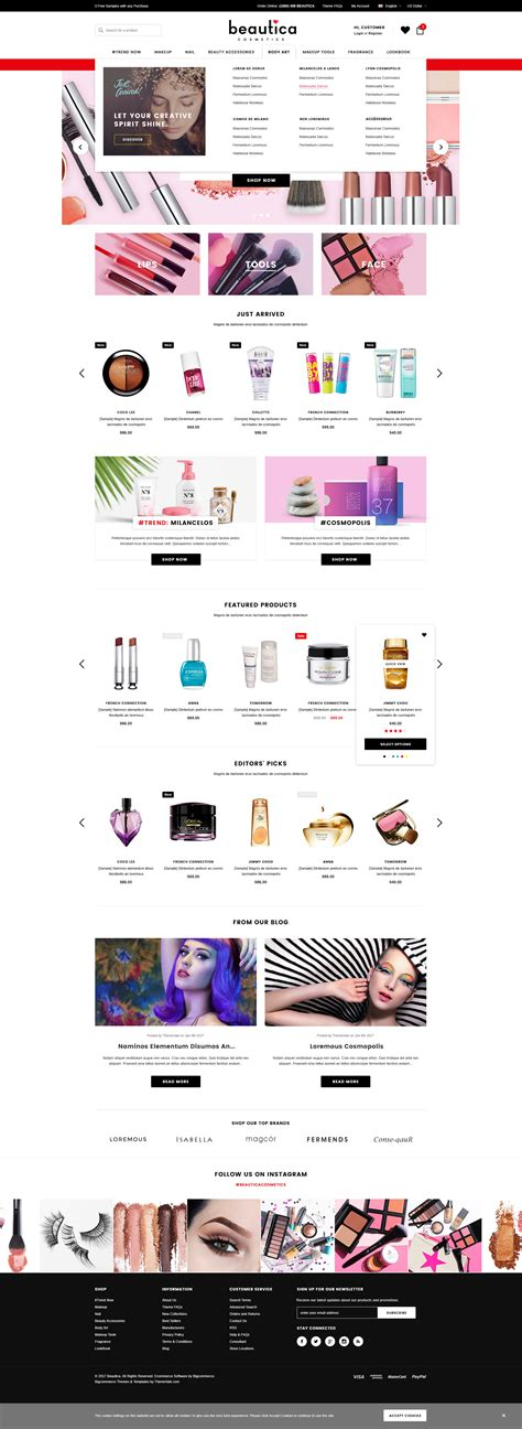 shopify themes with megamenu beautica responsive health beauty shopify template
