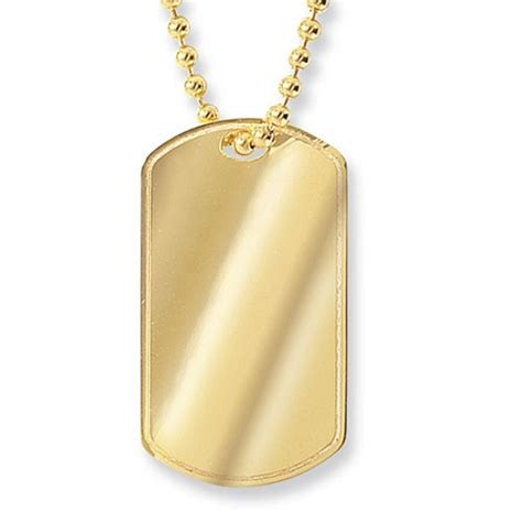 gold tag chain 9ct gold tag on chain