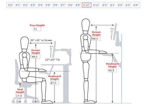Standard Office Desk Height with Desk Height For Someone 5ft 10 Inches Vitaleurope Redesign Pinterest Receptions
