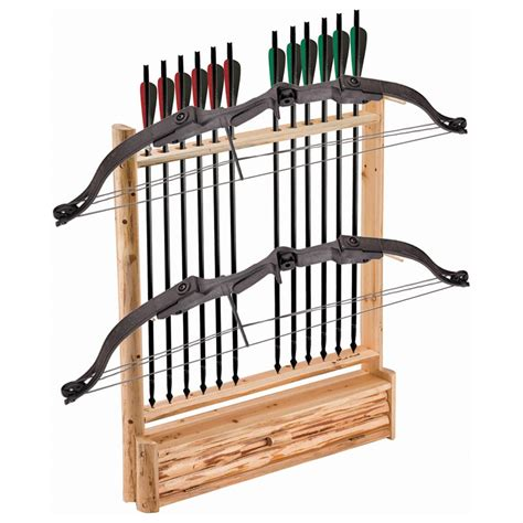 Archery Rack creek log 2 bow 12 arrow holder with storage 142021 bow cases racks at sportsman