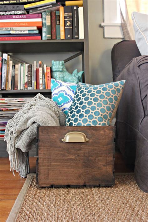 how to store pillows 15 easy ways to repurpose wooden crates brit co