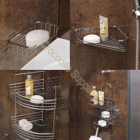 Bathroom Shower Racks Rust Resistant Chrome Wire Bathroom Shower Corner Soap Racks Holders Shelves Ebay