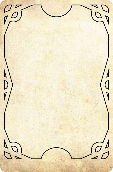 tarot card size template tarot rangers template card by onirikway on deviantart