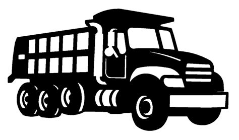 Dump Truck Logo Templates By by Dump Truck Clipart Black And White Clipart Panda Free