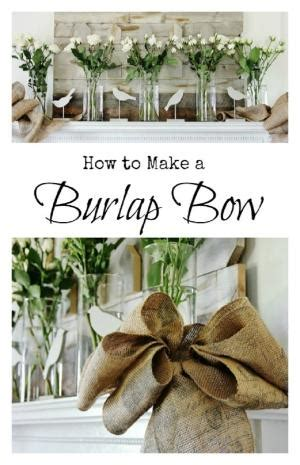 how to place burlap bow and burlap streamers on christmas tree how to make a burlap bow for a wreath