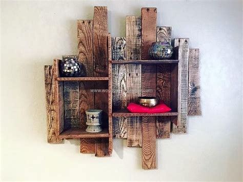 shelves out of pallets 1000 ideas about pallet shelves on pallets