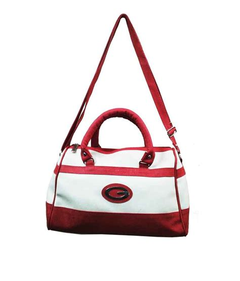 buy bags bucks white and pink satchel four compartment