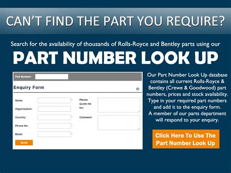 Number Lookup Us Flying Spares Parts For Rolls Royce And Bentley Motor Cars