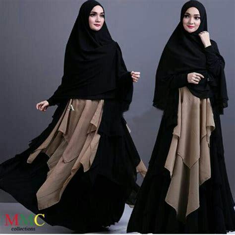 New Gamis Syari Hitam Baju Gamis Syari model baju gamis syari busui modern terbaru cantik
