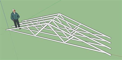 free layout sketch 3d truss models sketchucation 1