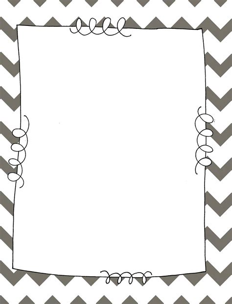 free chevron border template for word free chevron border clip 89