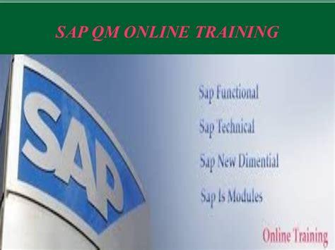 sap qm tutorial pdf best sap qm online training institute