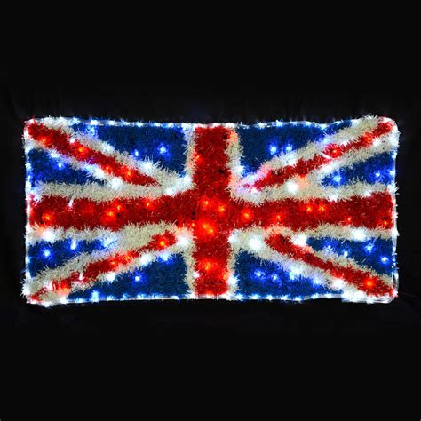 led rope light union jack tinsel flag christmas decoration