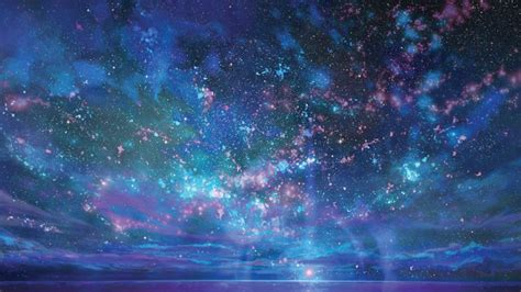 starry night sky girl anime anime starry night sky wallpaper anime starry night sky