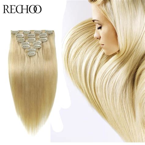 remy human hair bulk for braiding bleach blonde human hair extensions 26 inch long luxury clip in hair extensions bleach blonde