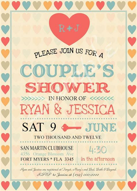 Bridal Shower Invitations Couples Wedding Shower Invitations Templates Free Couples Wedding Shower Invitations Templates Free