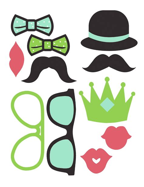 printable photo booth party props craftivity designs day 18 photo booth props