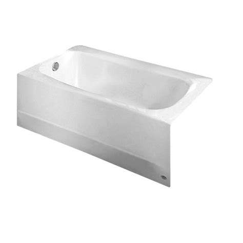 bathtub american standard american standard cambridge 5 ft x 32 in left drain soaking bathtub in arctic white