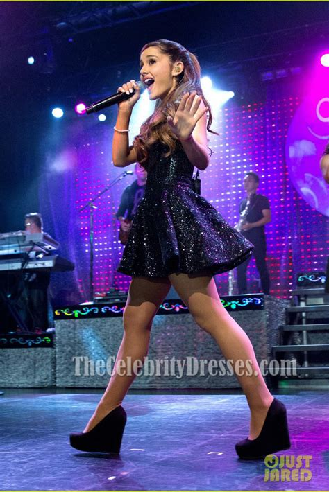 Ariana Grande Short Black Sequins Party Dress Listening Sessions Tour   TheCelebrityDresses