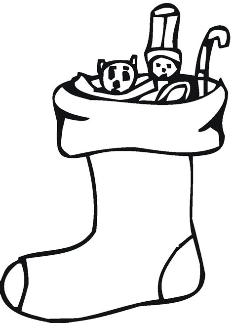 coloring pages for christmas stocking christmas stocking coloring page for kids