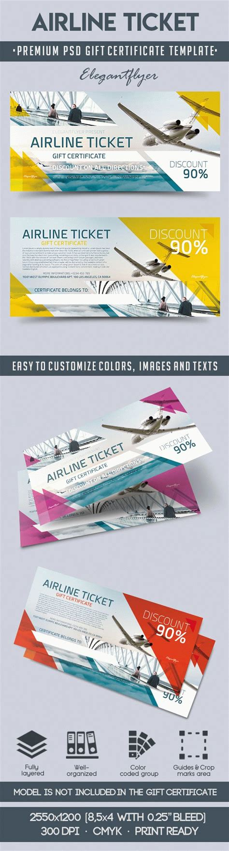 flight ticket template gift gift certificate template airline ticket choice image