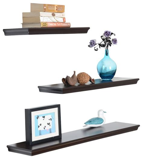 dover 3 display shelves set contemporary display