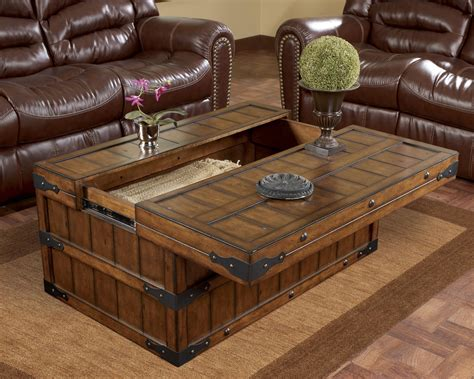 end tables and coffee tables brown rectangle wood storage rustic coffee and end tables