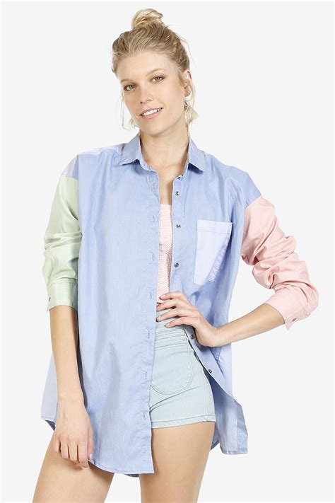Amira Pastel Blouse Berkualitas pastel button up block blouse from echo club house